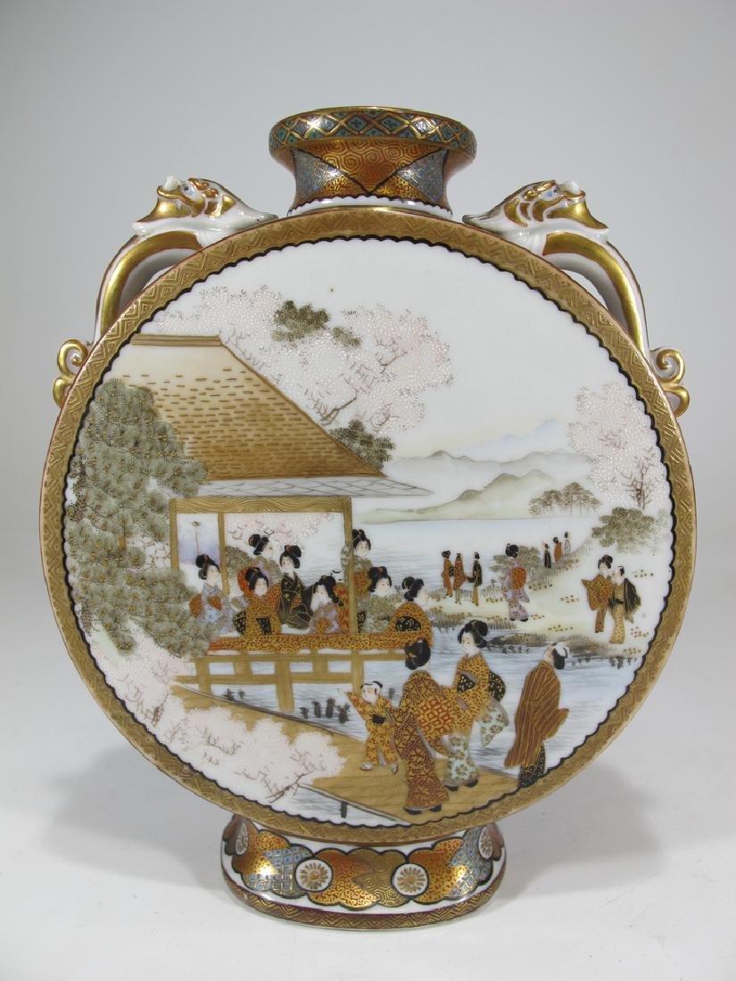Antique Japanese Satsuma porcelain vase
