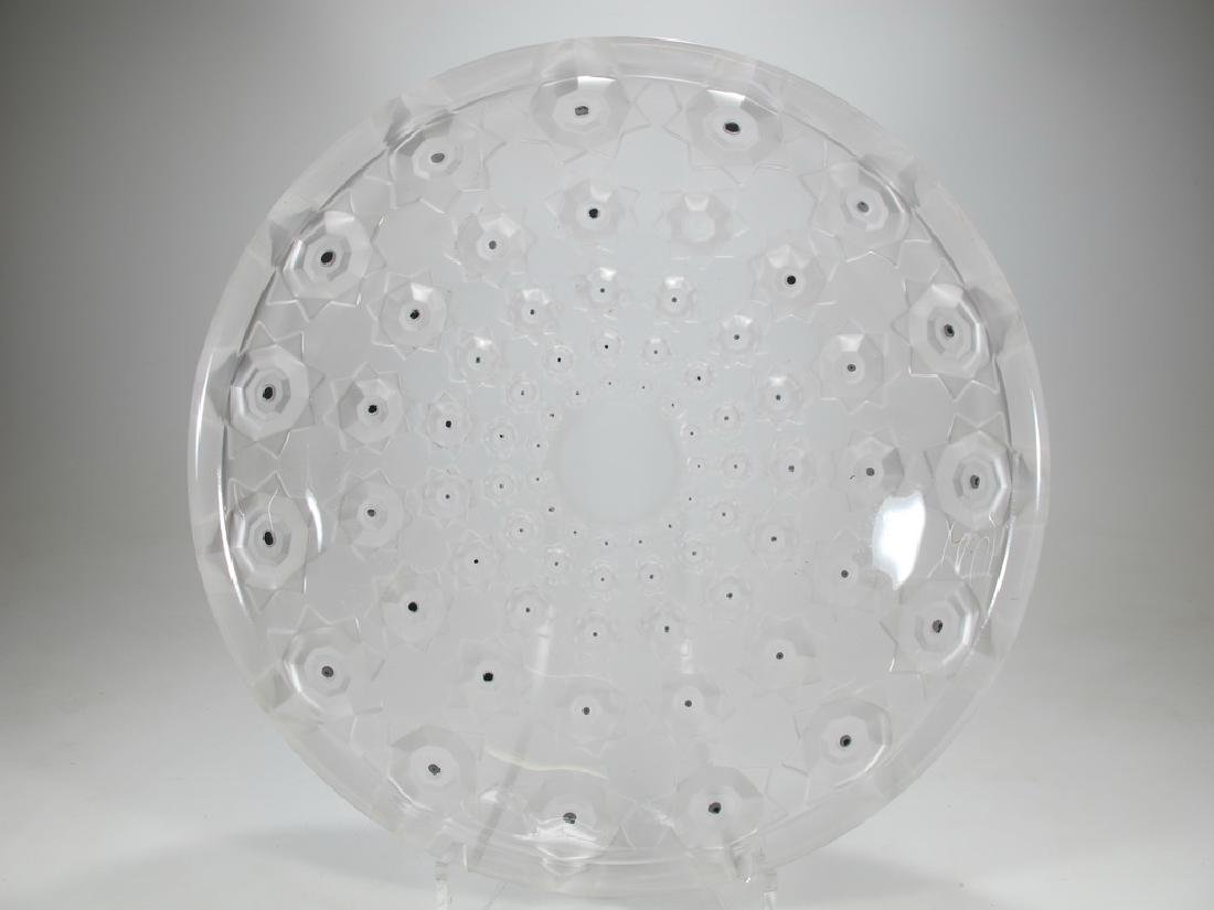Impressive Art Deco glass plate in high relief - 2