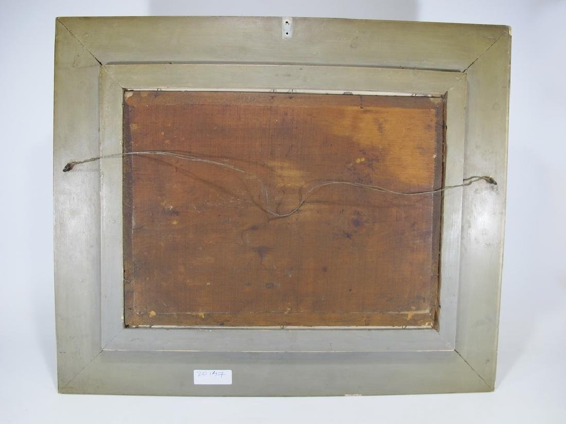 Antique European oil on wood painting, sign. W. Hower - 7