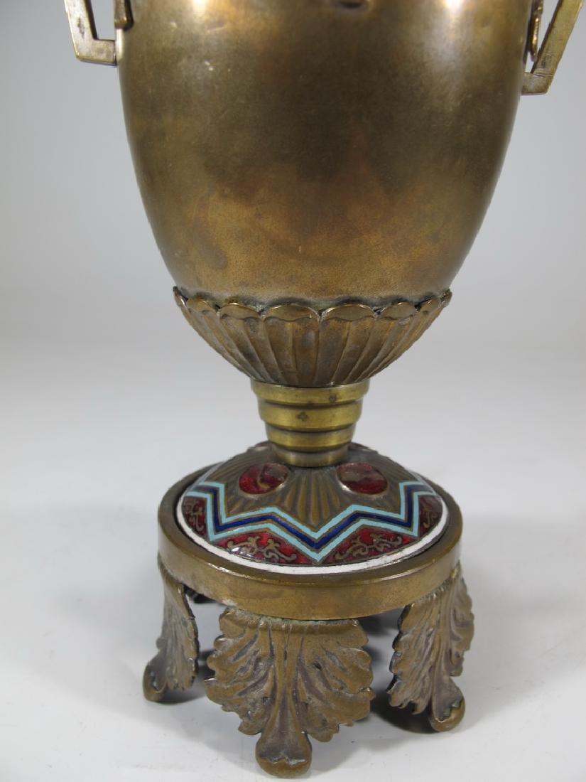 Antique Russian brass & enamel trophy - 4