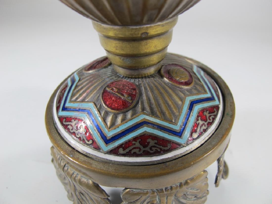 Antique Russian brass & enamel trophy - 6