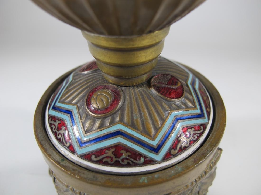 Antique Russian brass & enamel trophy - 8