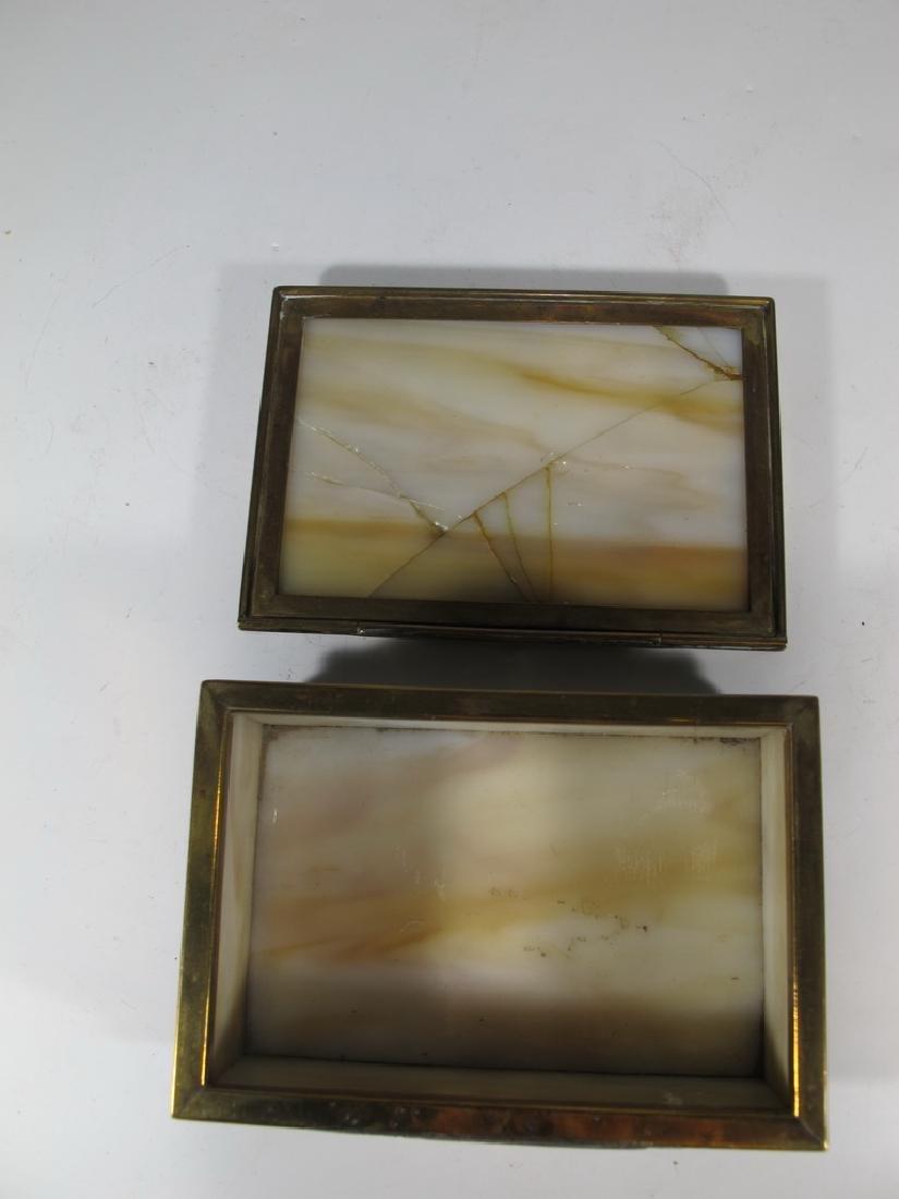 Antique Tiffany Studios bronze & glass box - 3