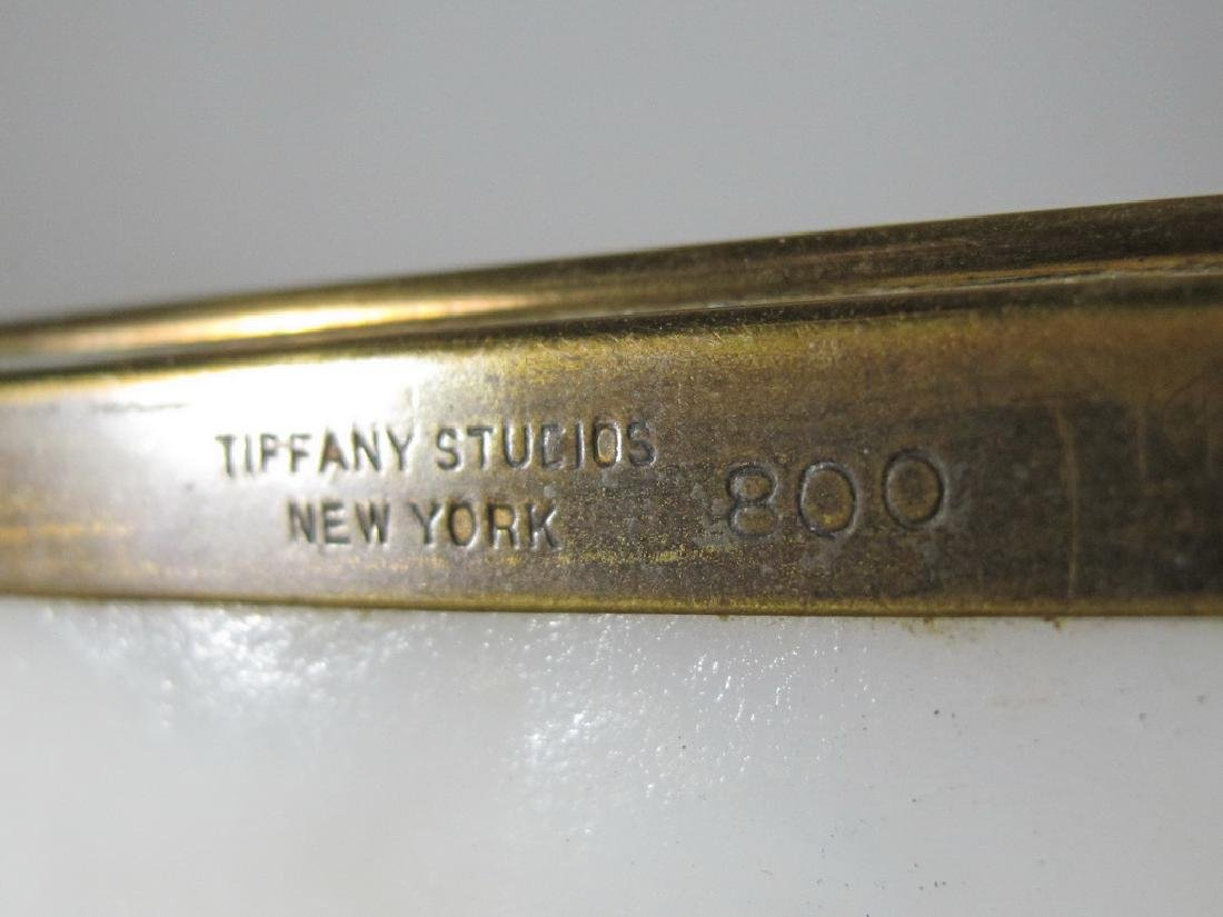 Antique Tiffany Studios bronze & glass box - 6