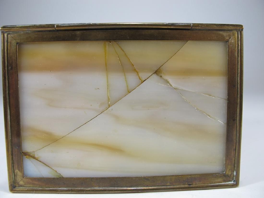 Antique Tiffany Studios bronze & glass box - 7