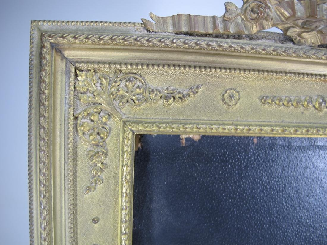 Antique French bronze & glass picture frame - 3