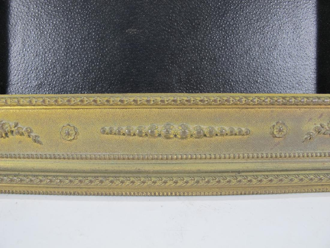 Antique French bronze & glass picture frame - 4