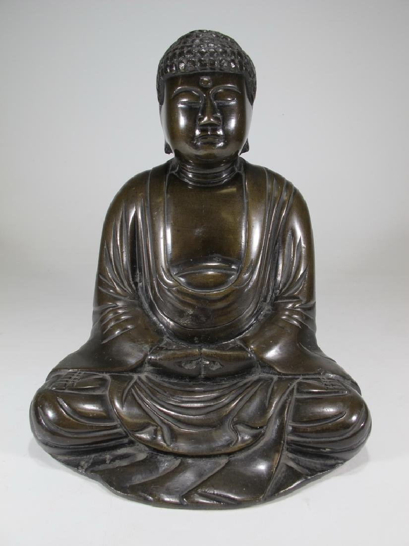 Antique Buddha bronze statue