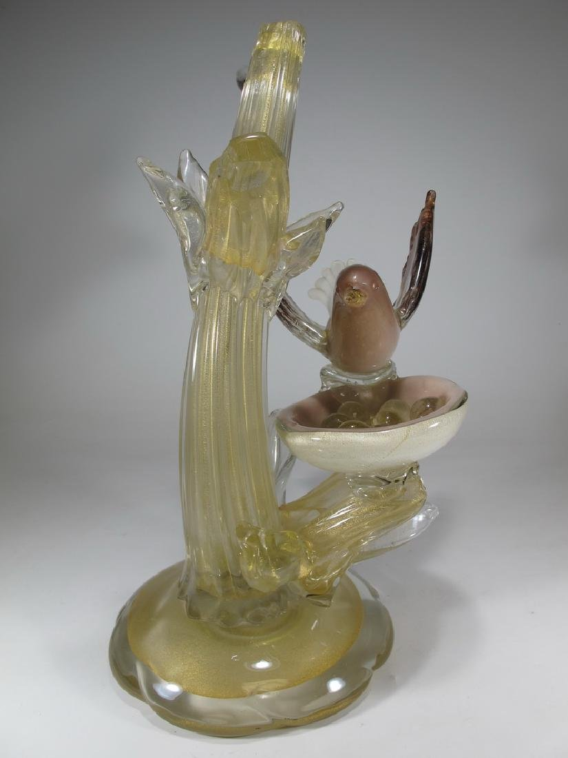 Vintage Italian Murano bird sculpture - 4