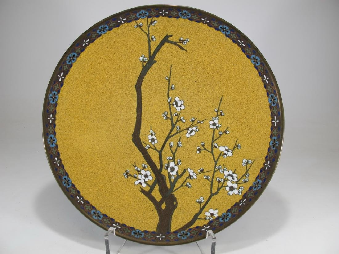 Antique Japanese cloisonne plate