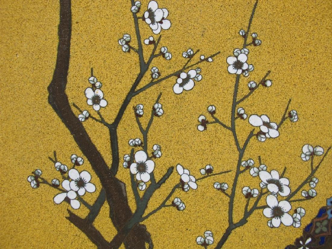 Antique Japanese cloisonne plate - 2