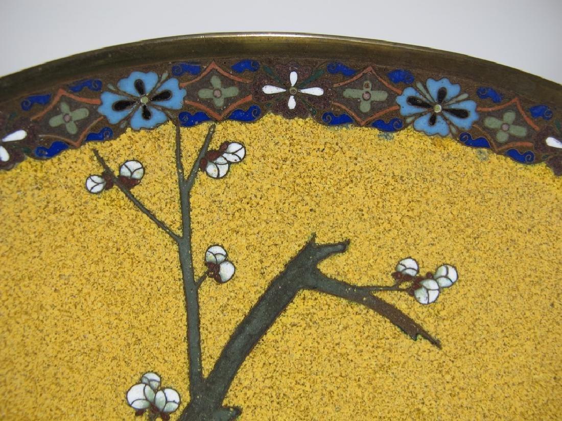 Antique Japanese cloisonne plate - 3