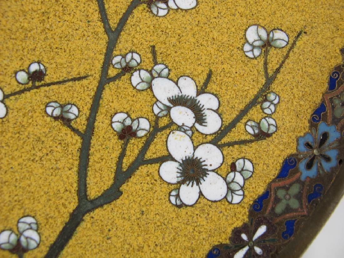 Antique Japanese cloisonne plate - 4