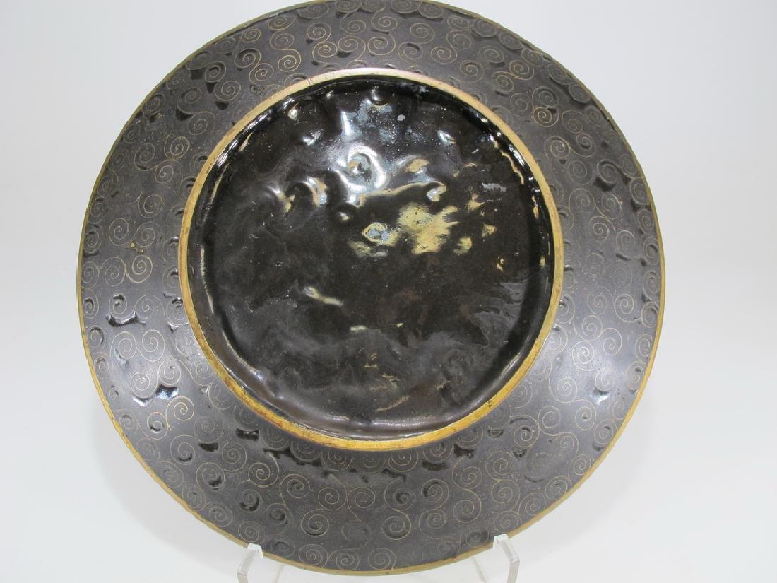 Antique Japanese cloisonne plate - 5