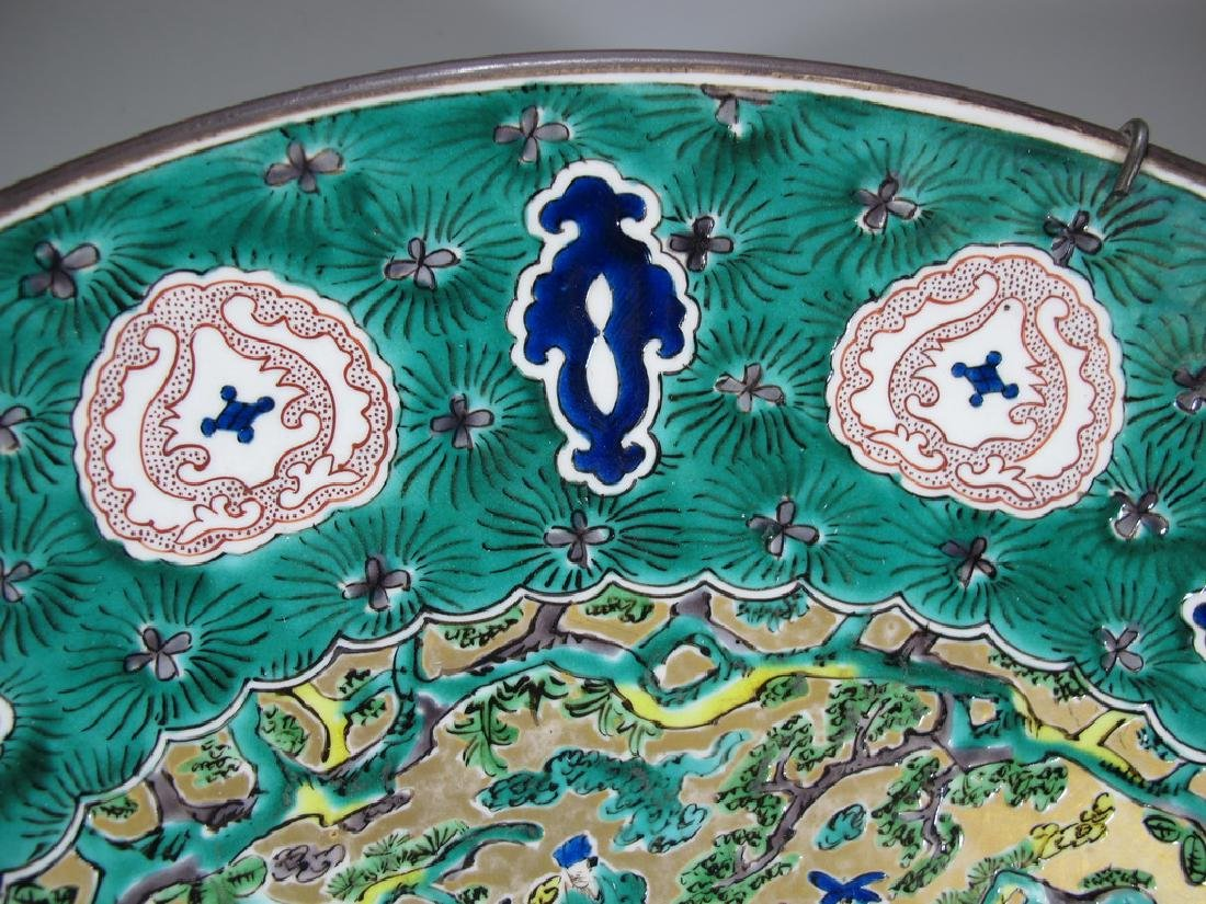 Huge antique Oriental porcelain plate - 3