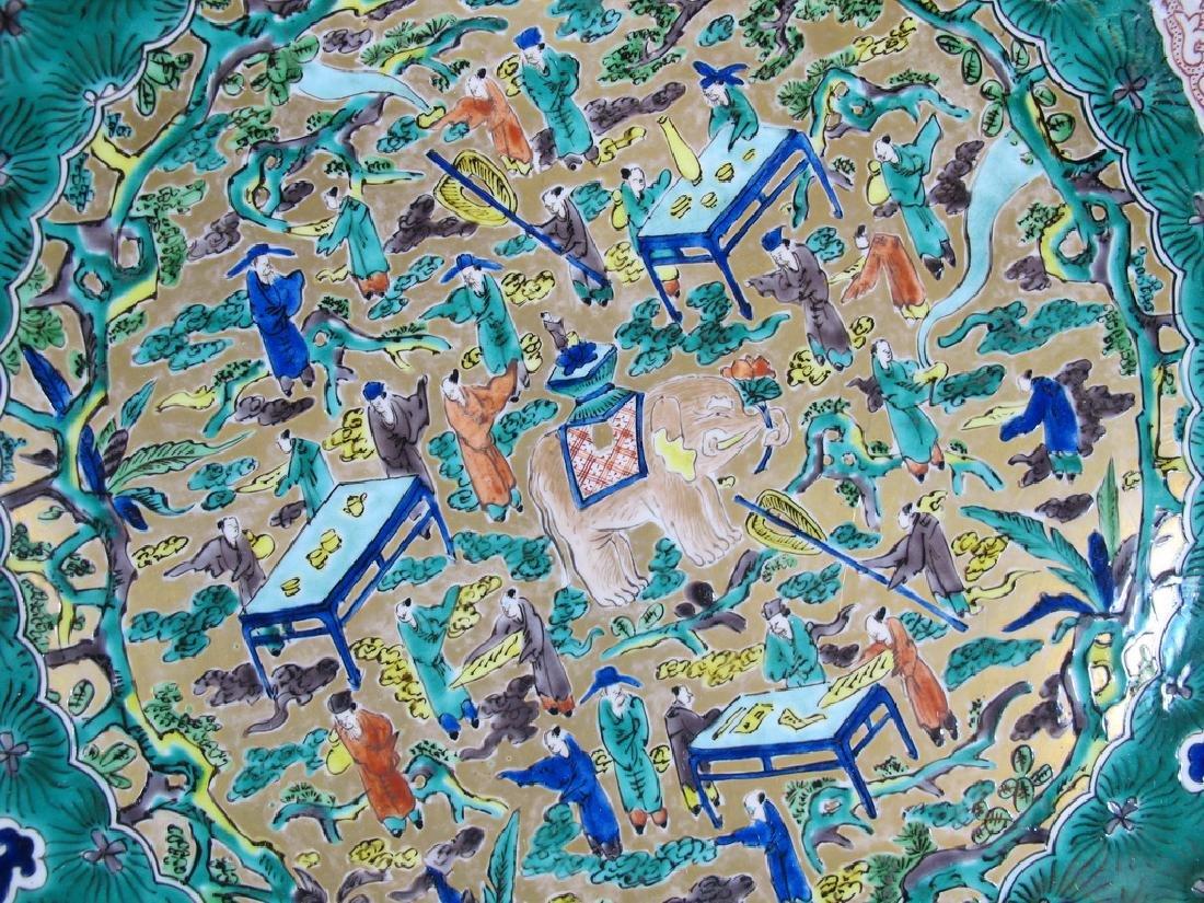 Huge antique Oriental porcelain plate - 4