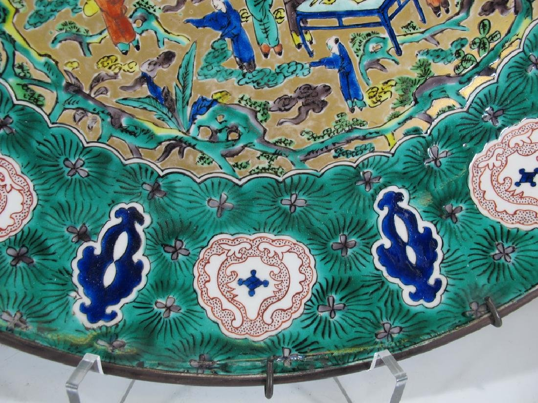 Huge antique Oriental porcelain plate - 5