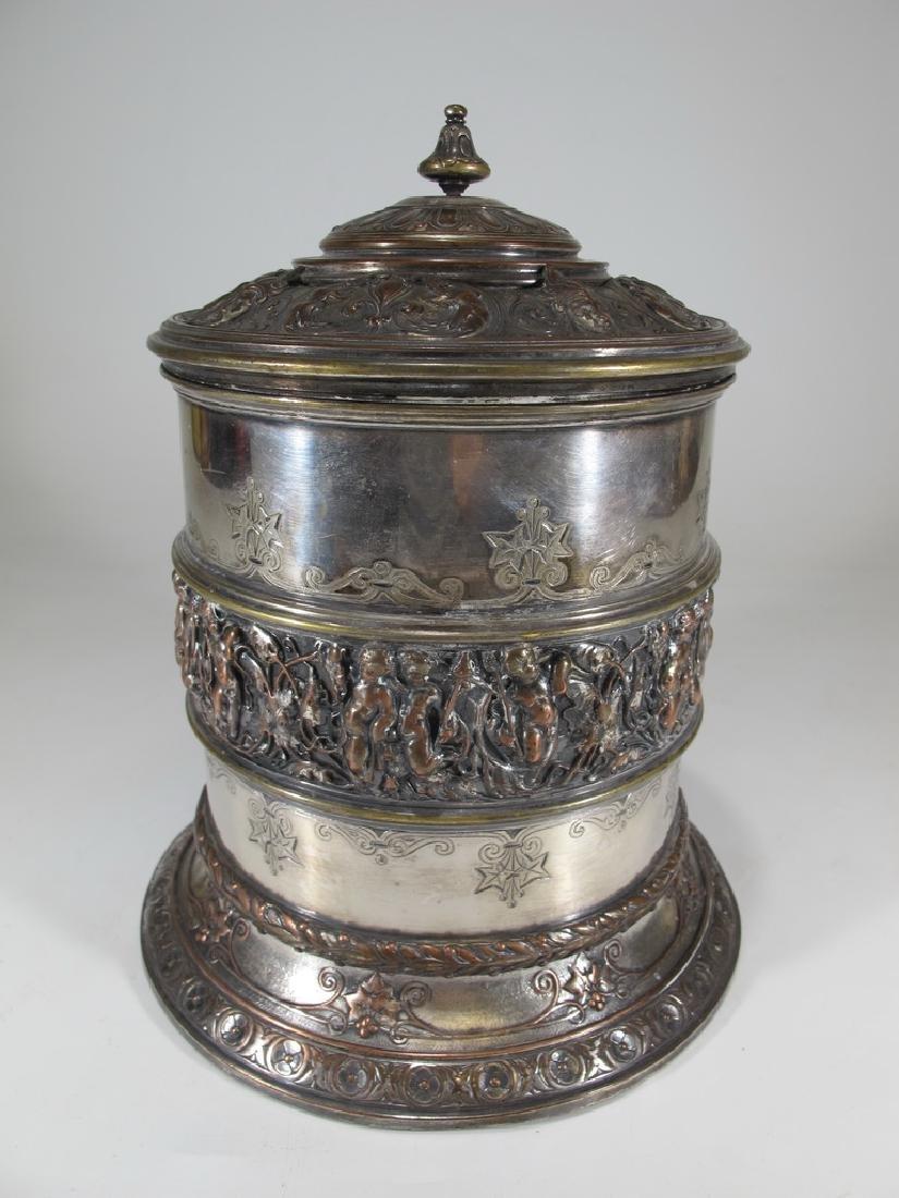 19th Century Victorian Elkington Cookie Jar