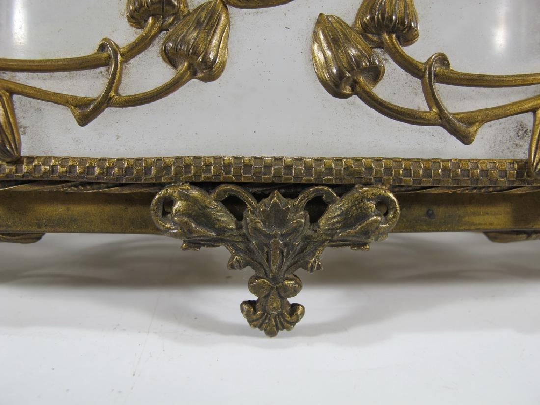 Antique Art Nouveau French bronze & glass box - 5