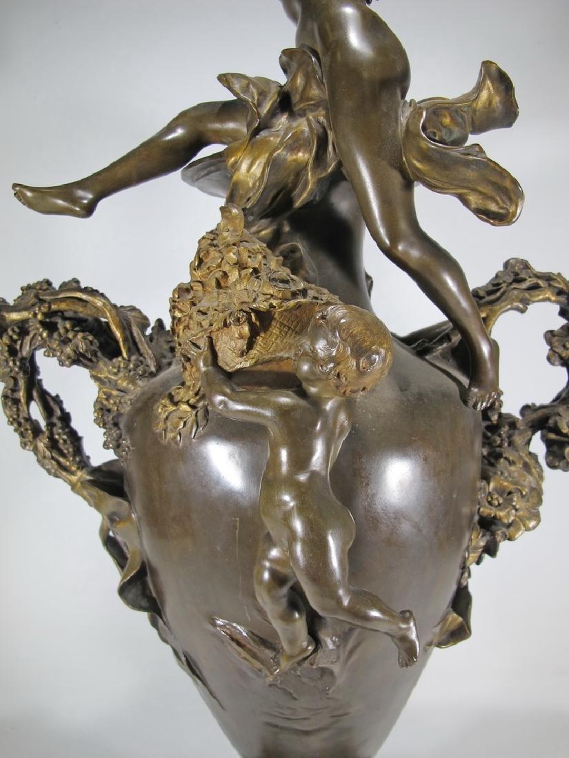 Félix CHARPENTIER (1858-1924) bronze vase - 10