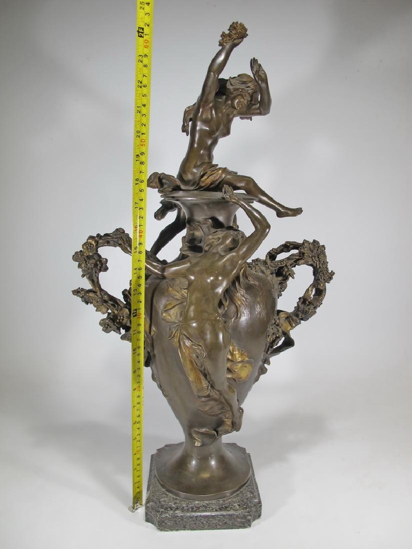 Félix CHARPENTIER (1858-1924) bronze vase - 2