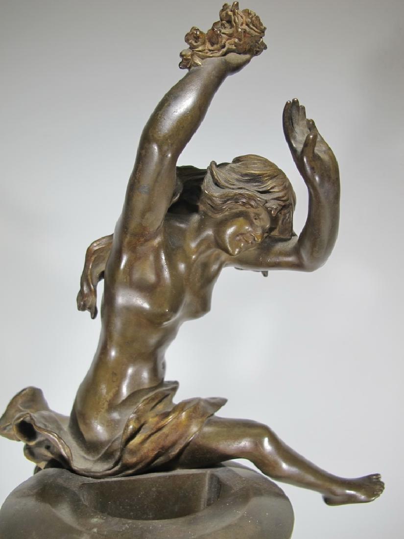 Félix CHARPENTIER (1858-1924) bronze vase - 3