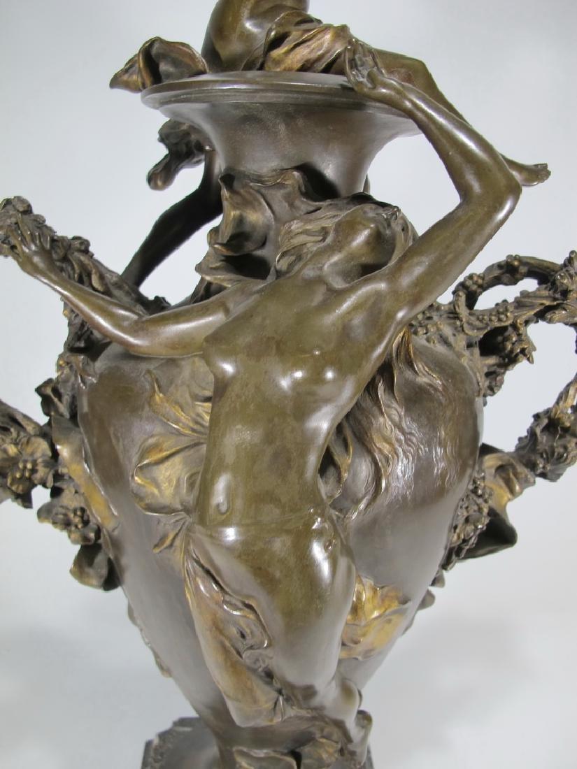 Félix CHARPENTIER (1858-1924) bronze vase - 4