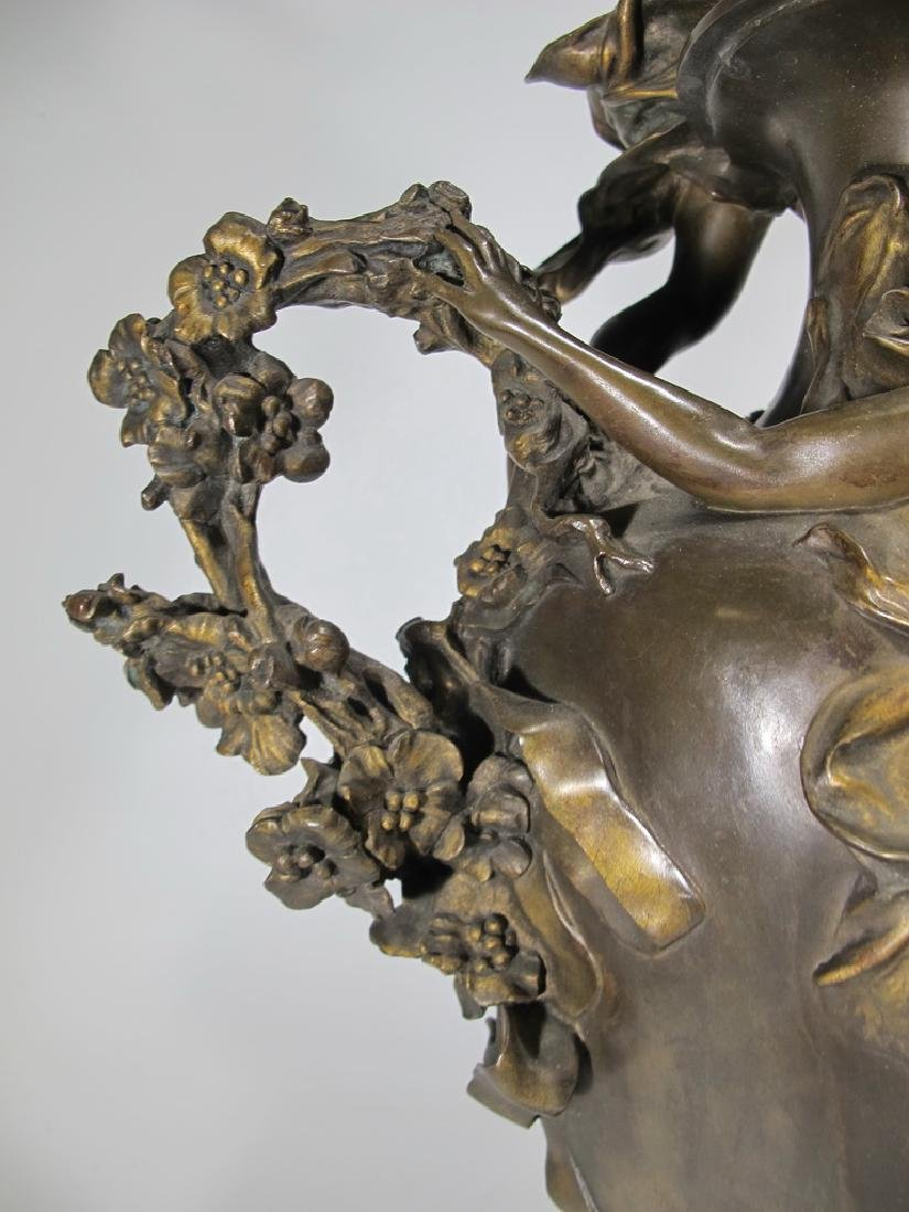Félix CHARPENTIER (1858-1924) bronze vase - 5