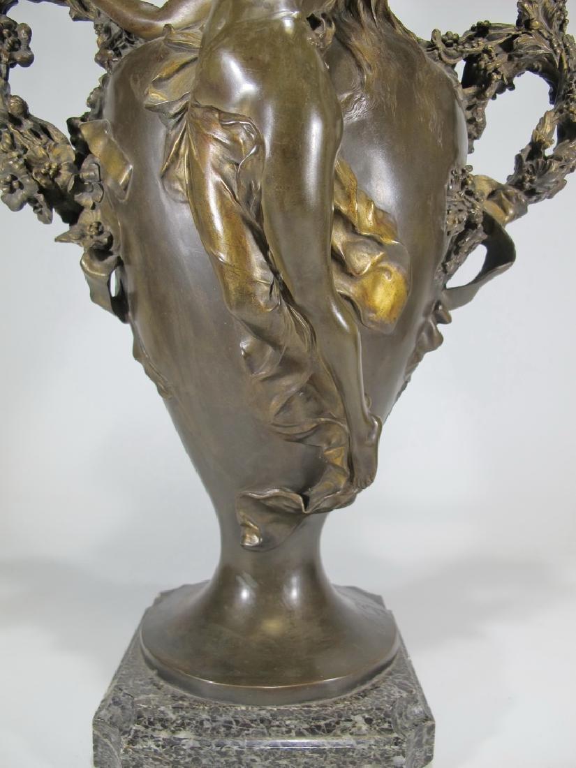 Félix CHARPENTIER (1858-1924) bronze vase - 6