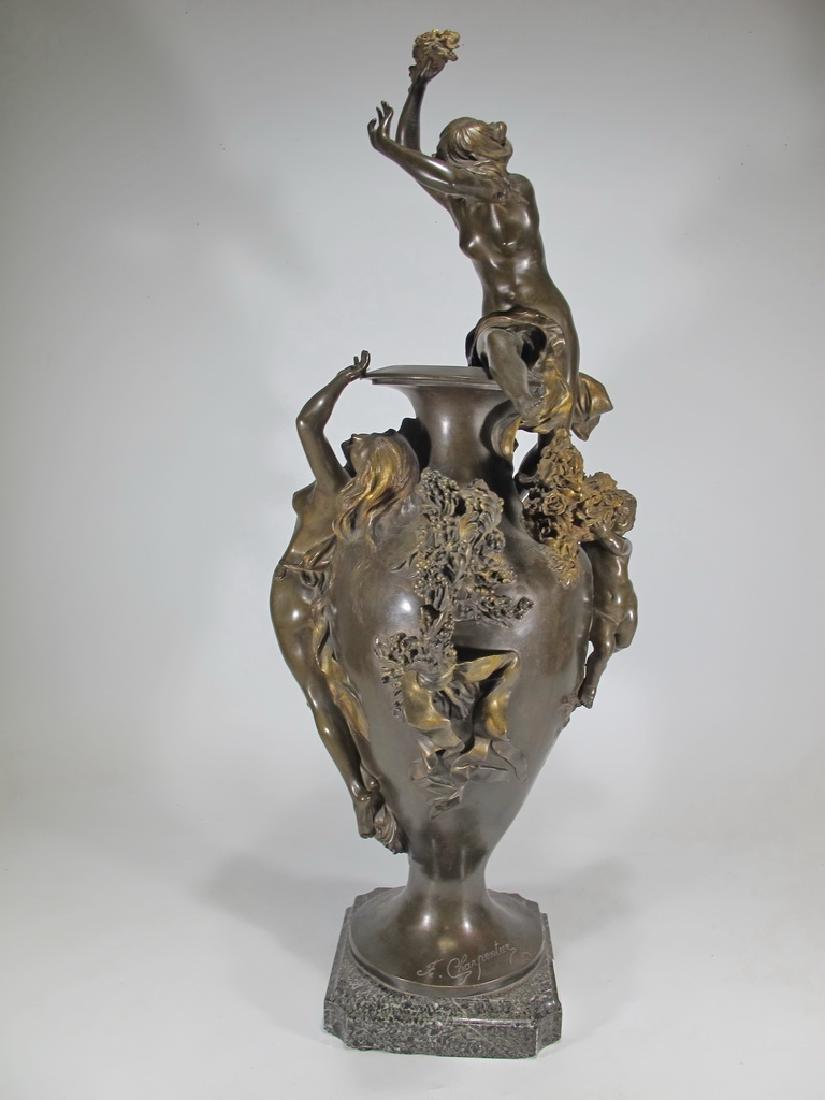 Félix CHARPENTIER (1858-1924) bronze vase - 7