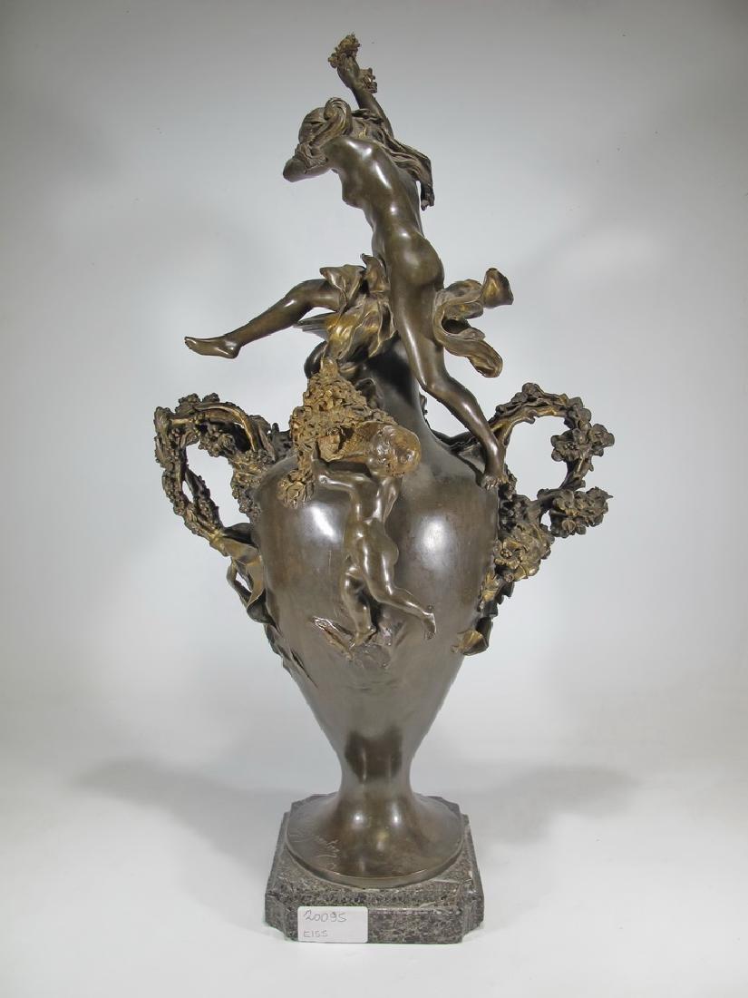Félix CHARPENTIER (1858-1924) bronze vase - 9