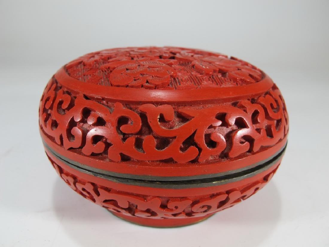 Vintage Chinese cinnabar box