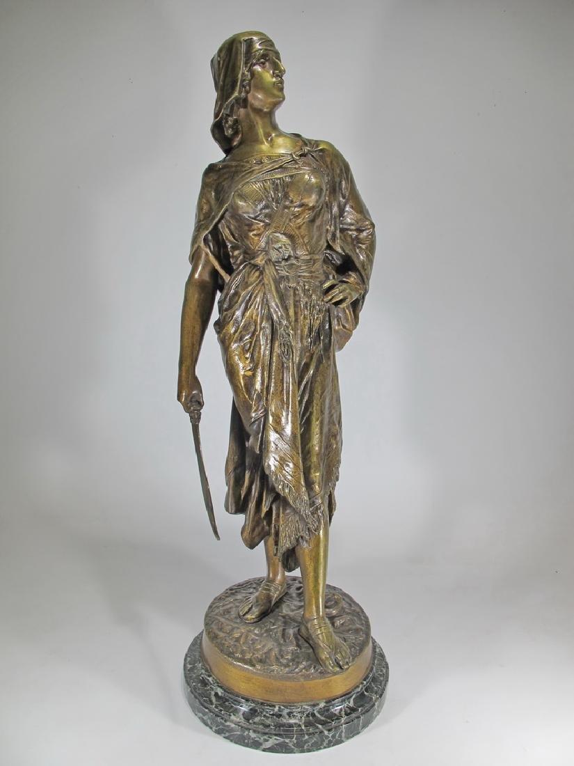Edouard DROUOT (1859-1945) warrior bronze statue