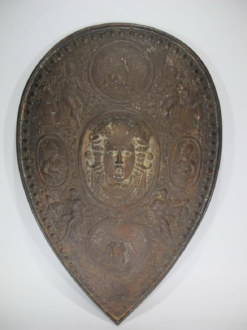 19th C European iron shield