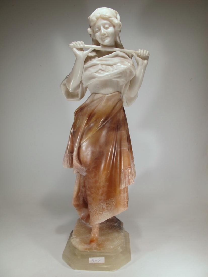 Huge antique French 3 colors alabaster sculpture