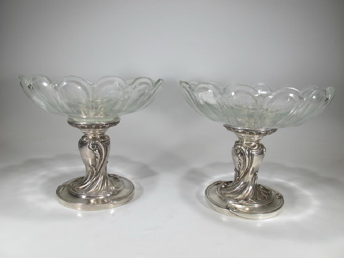 Antique French Christofle pair of silverplate