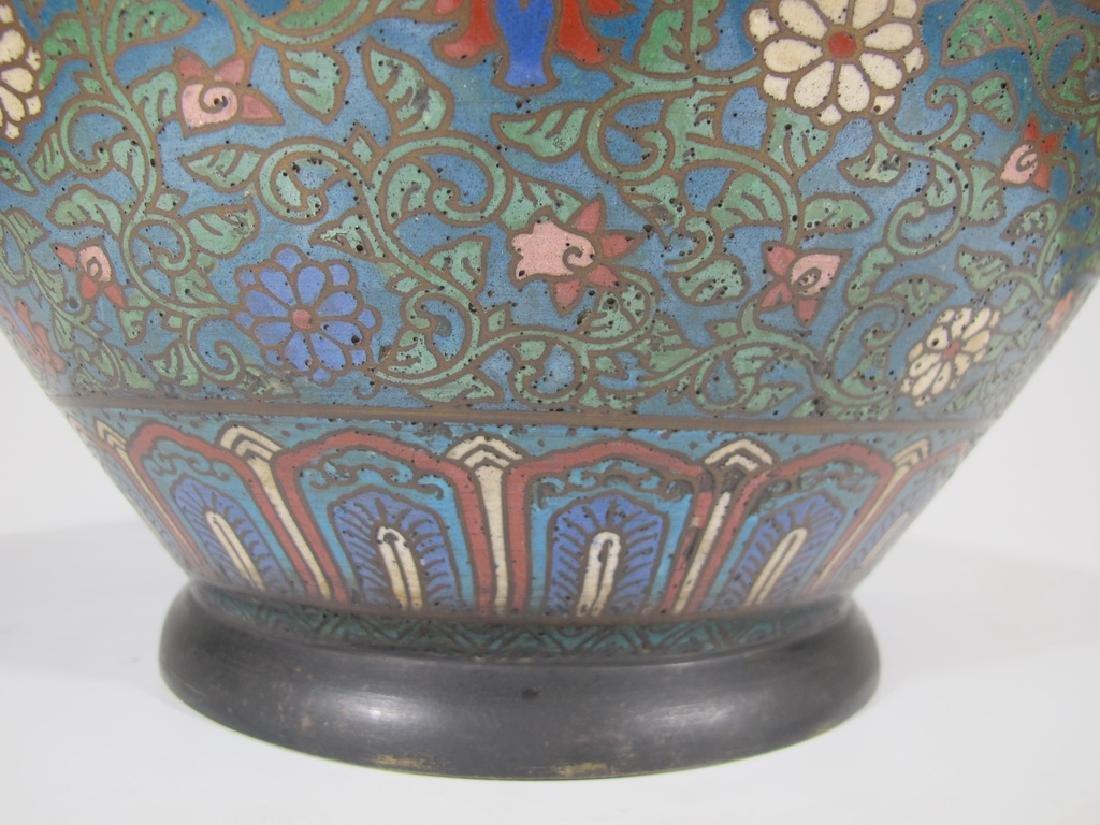 Huge antique Oriental cloisonne vase - 7