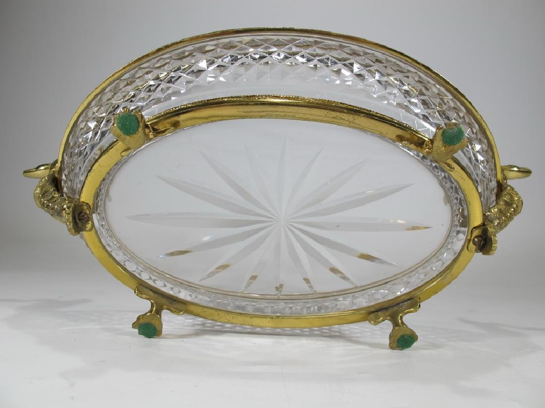 Antique French Baccarat style bronze & crystal - 6