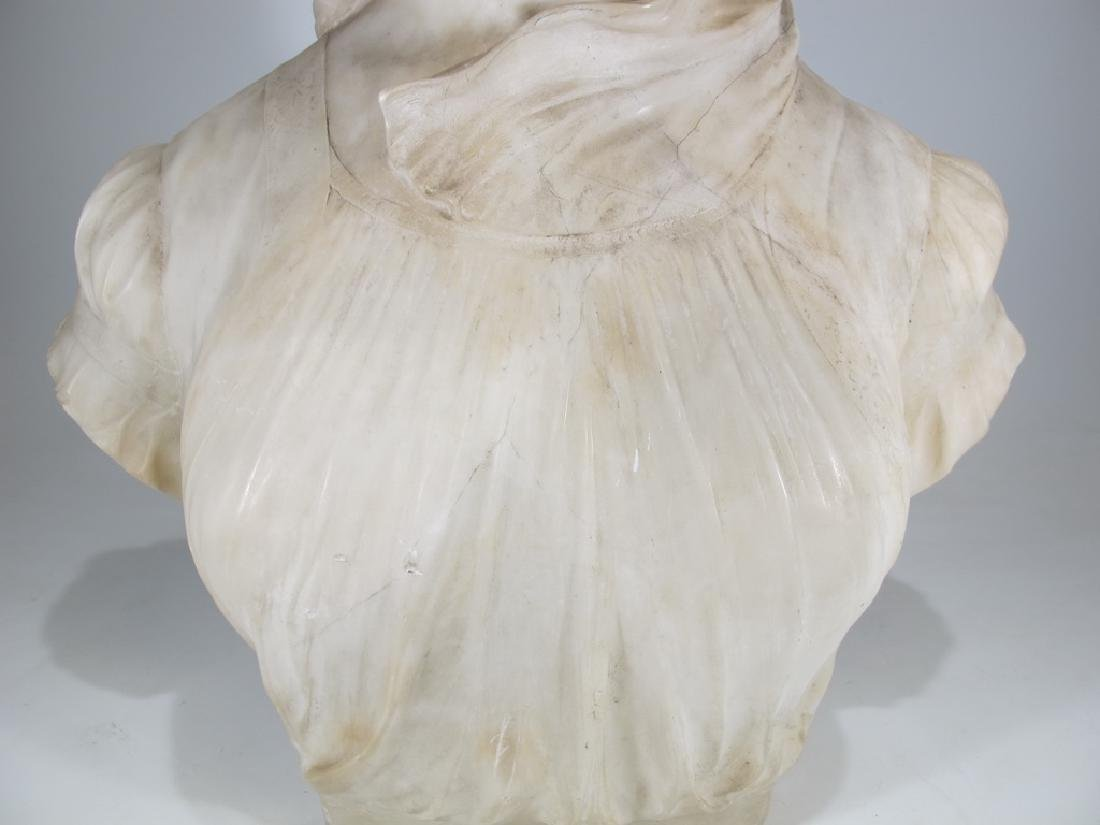 Great antique French alabaster woman bust sculpture - 4