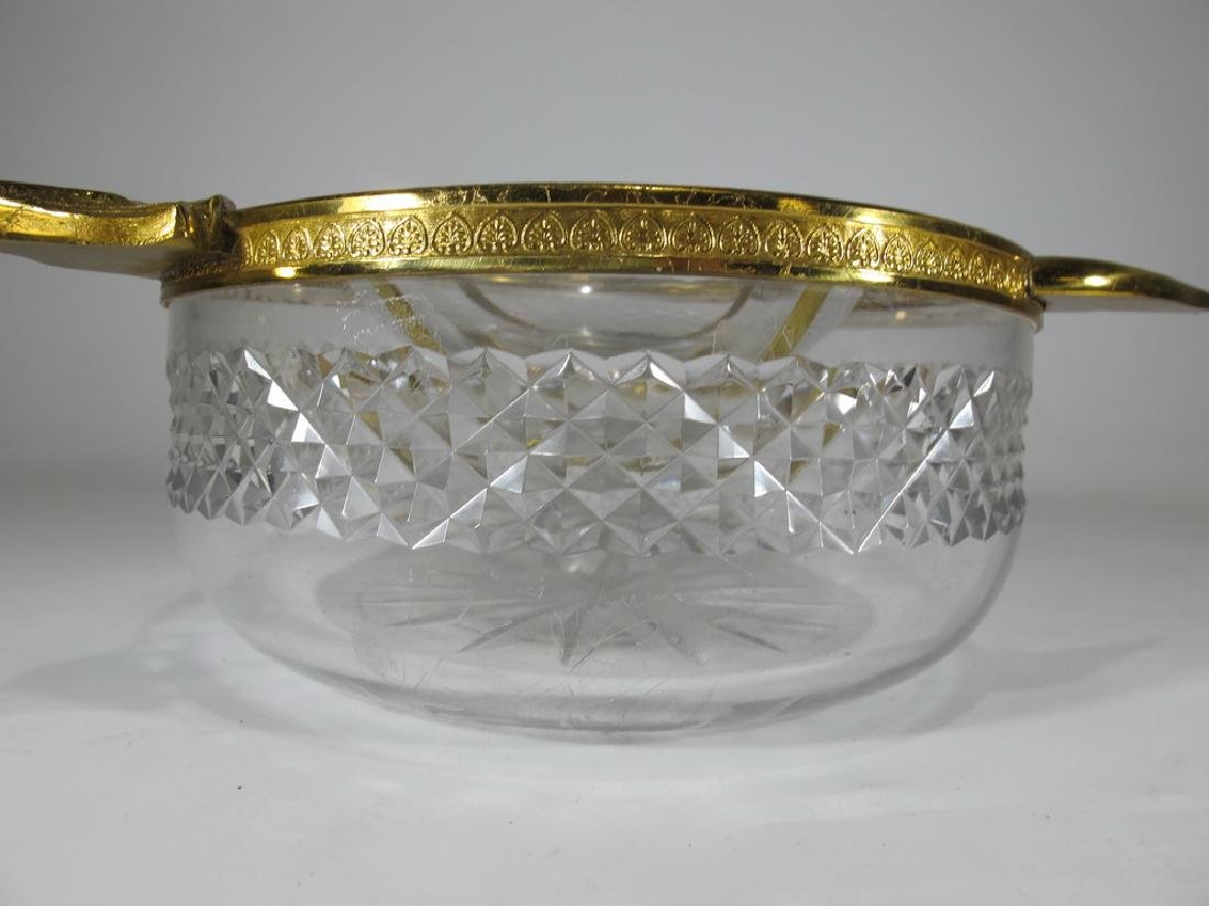 Antique French Baccarat style bronze & crystal caviar - 4