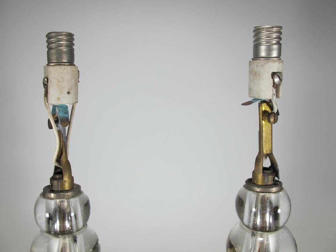 Vintage pair of glass table lamps - 2
