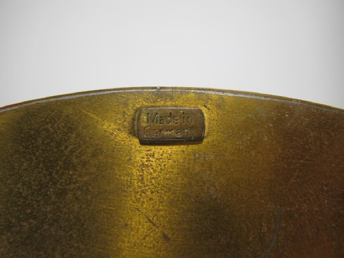 Antique German bronze inlay wood jewelry box - 10