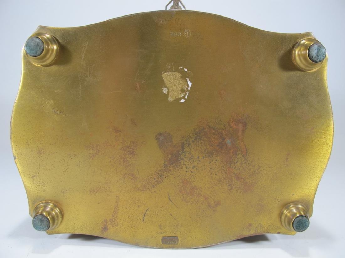 Antique German bronze inlay wood jewelry box - 8