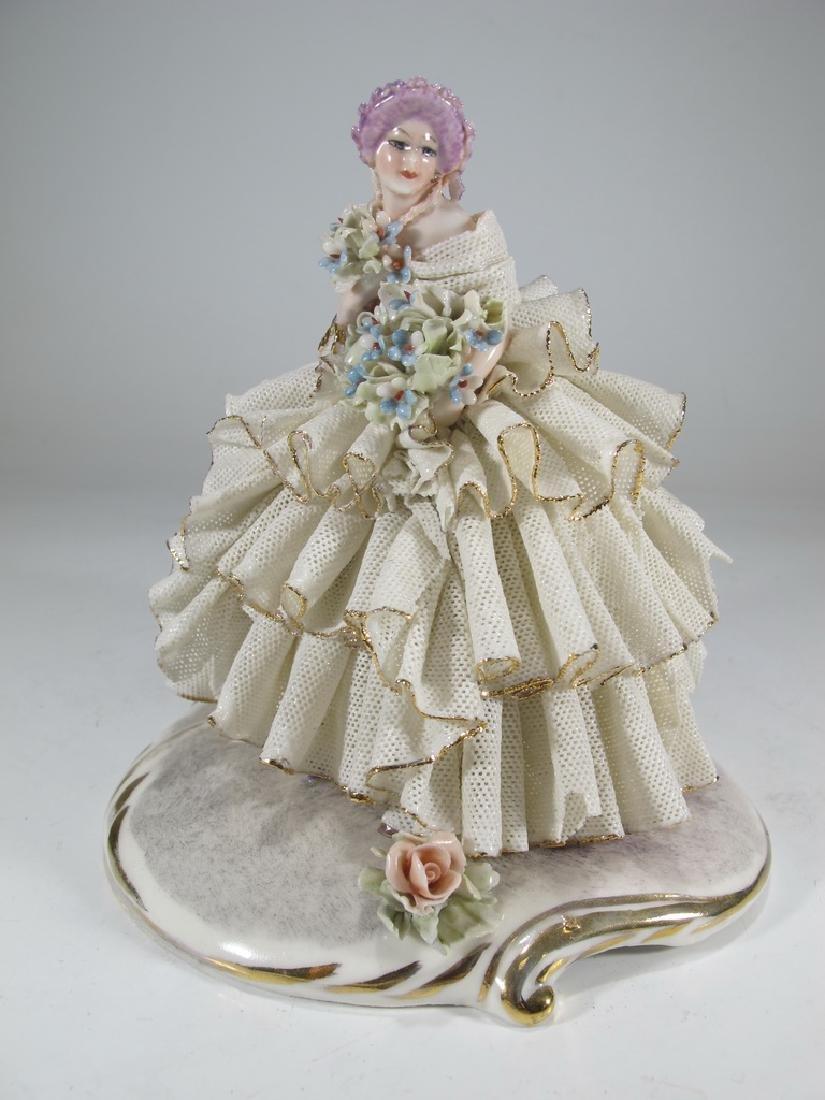 Vintage Capodimonti porcelain figurine
