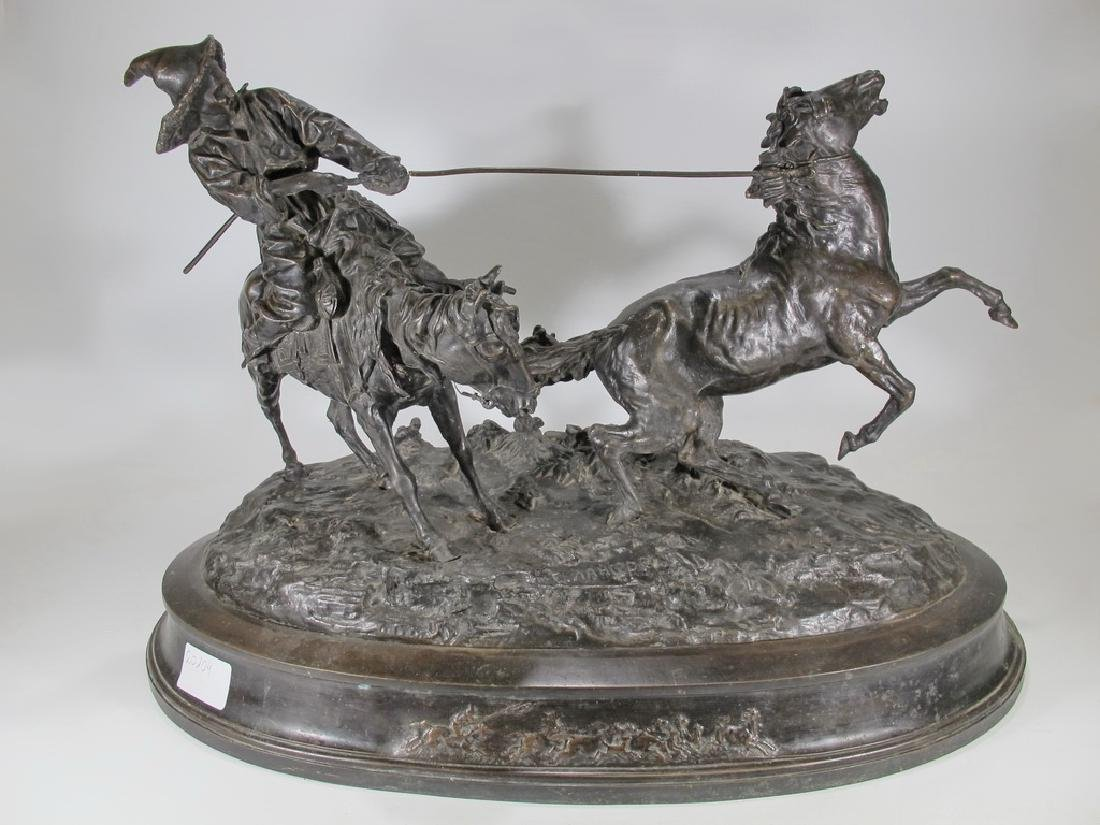 Cowboy Breaking in a Wild Pony by E. Nahcepe, Russian
