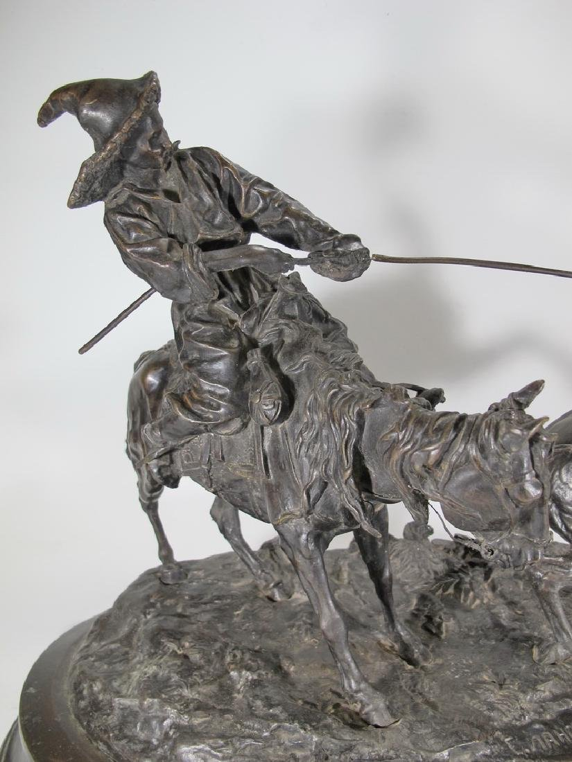Cowboy Breaking in a Wild Pony by E. Nahcepe, Russian - 2