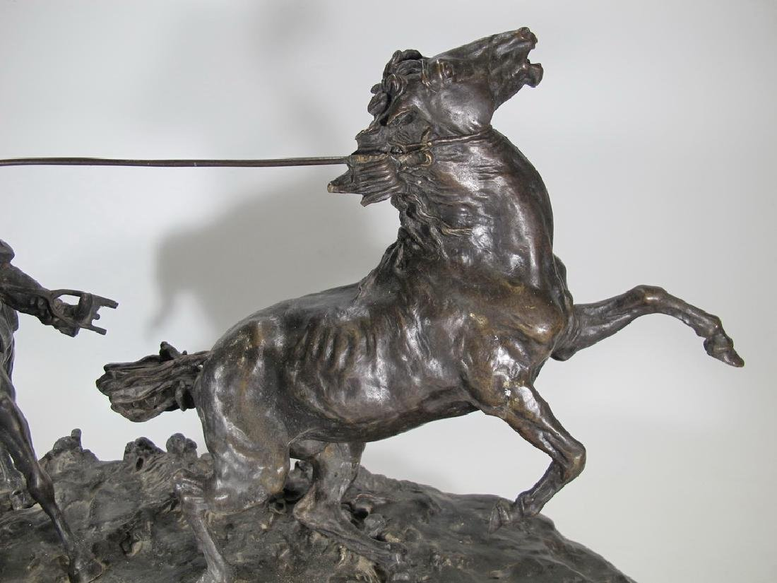 Cowboy Breaking in a Wild Pony by E. Nahcepe, Russian - 3