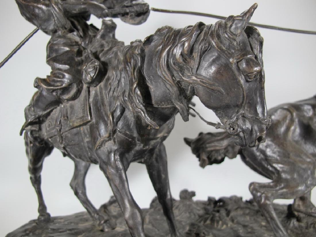 Cowboy Breaking in a Wild Pony by E. Nahcepe, Russian - 6