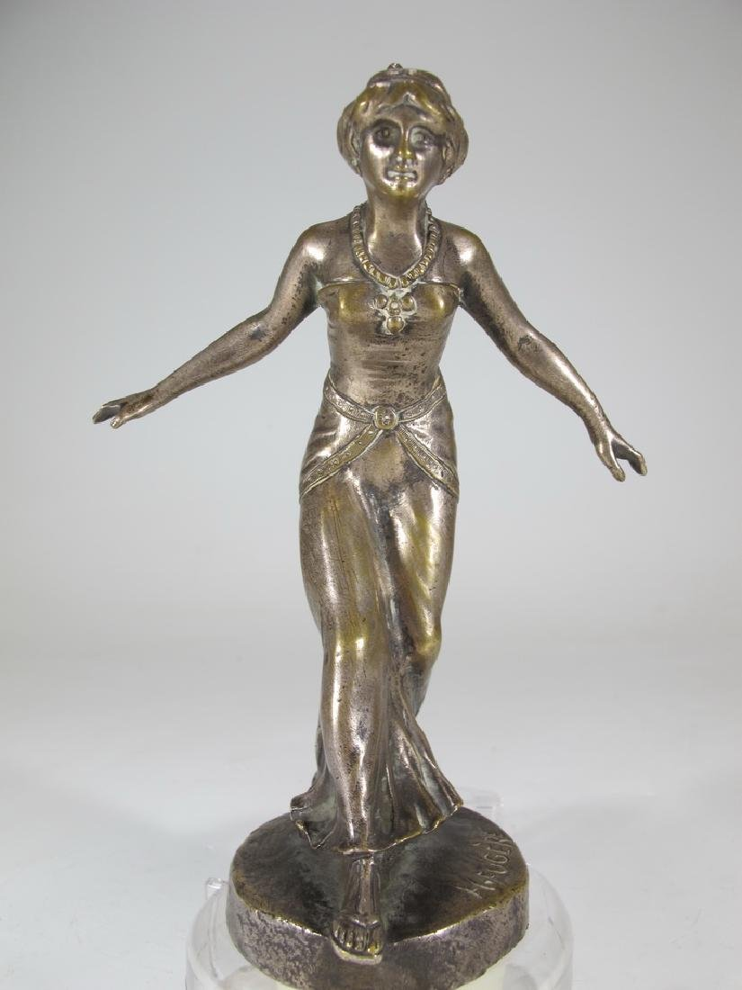 Henry FUGÈRE (1872-1944) silverplated on bronze car