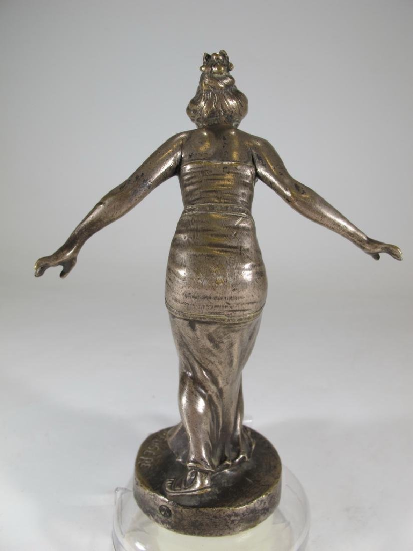 Henry FUGÈRE (1872-1944) silverplated on bronze car - 5